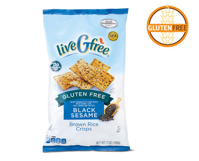 LiveGfree Black Sesame Brown Rice Crisps