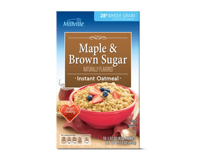 Millville Maple and Brown Sugar Instant Oatmeal