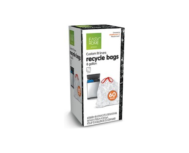 Easy Home Dual Trash/Recycle 8-Gallon Liners View 4