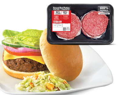 80% Lean Ground Beef Patties