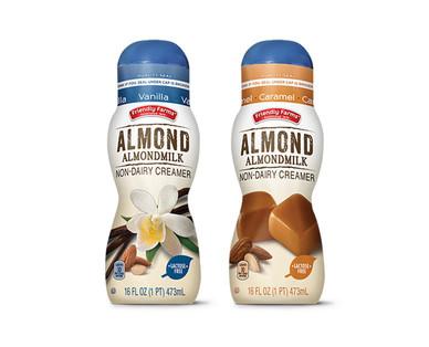 Friendly Farms Vanilla or Caramel Almondmilk Coffee Creamer