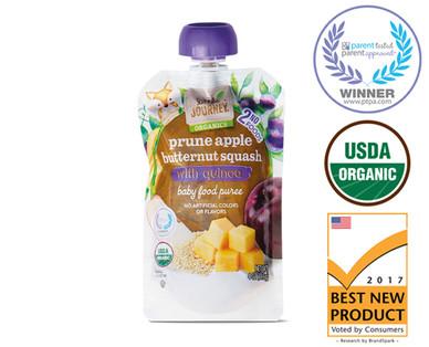 Little Journey Prune Apple Butternut Squash Quinoa Baby Food Puree