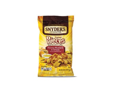 Snyder's of Hanover Hot Buffalo Wing or Honey Mustard & Onion Pretzel Pieces View 2