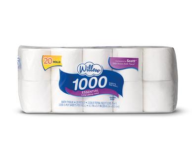Willow 20 Roll 1000 ct Bath Tissue