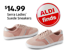 Serra Ladies' Suede Sneakers. $14.99. View ALDI Finds.