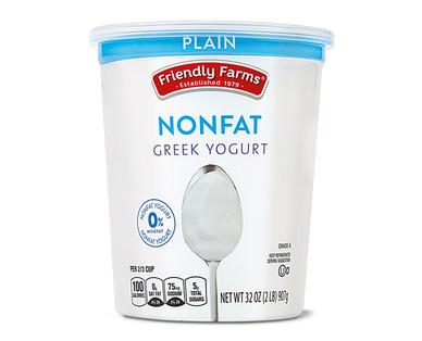 Friendly Farms Plain Nonfat Greek Yogurt