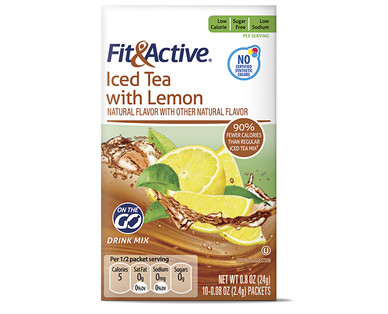Fit and Active Iced Tea with Lemon Drink Mix Sticks