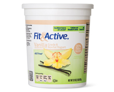 Fit and Active Vanilla Nonfat Yogurt