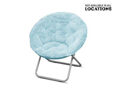 SOHL Furniture Faux Fur, Quilted or Mongolian Saucer Chair View 3