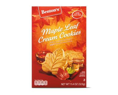 Benton's  Maple Leaf Cream Cookies