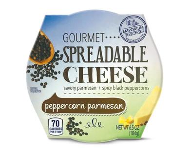 Emporium Selection Peppercorn Parmesan Gourmet Spreadable Cheese