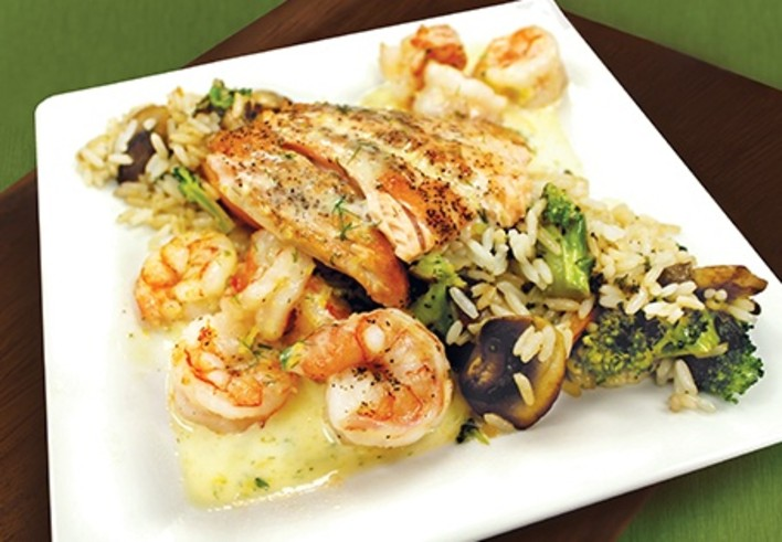 Pan-Seared Shrimp and Salmon