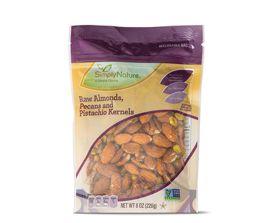 SimplyNature Raw Almonds, Pecans, Pistachio Kernels