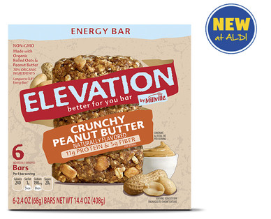 Elevation by Millville Crunchy Peanut Butter Energy Bars