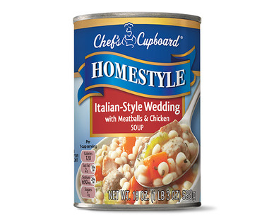 Chef's Cupboard Homestyle Soup - Italian Style Wedding with Meatballs and Chicken Soup