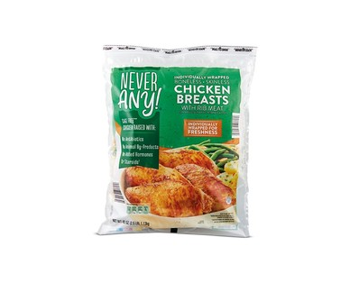 Never Any! Individually Wrapped Antibiotic-Free Chicken Breasts View 1