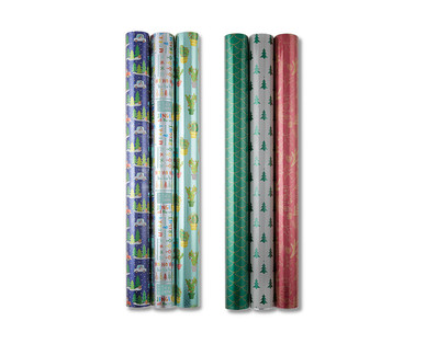 Merry Moments Premium Reversible Gift Wrap View 2