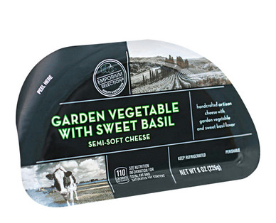Emporium Selection Garden Vegetable & Sweet Basil Hand Crafted Cheese