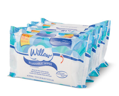 Willow Flushable Wipes
