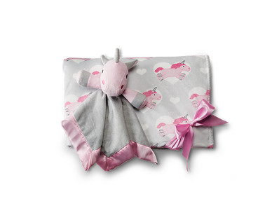 Little Journey 2-Piece Plush Baby Blanket and Cuddle Buddy View 2