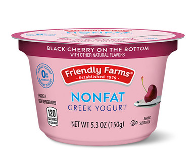 Friendly Farms Black Cherry Nonfat Greek Yogurt
