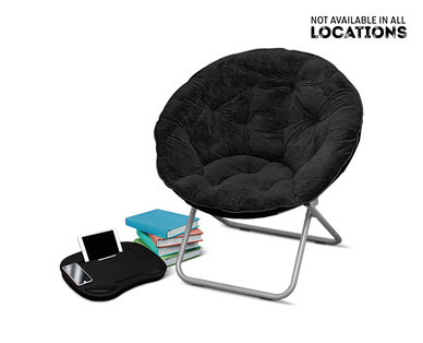 SOHL Furniture Faux Fur, Quilted or Mongolian Saucer Chair View 4