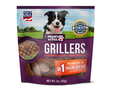 Heart To Tail Griller Dog Treats - Beef