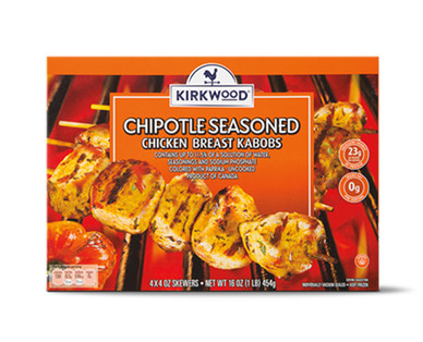 Kirkwood Sweet BBQ or Chipotle Chicken Breast Kabobs