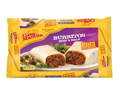 Casa Mamita Burritos Beef and Bean
