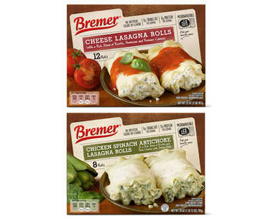 Bremer Cheese or Chicken Spinach Artichoke Lasagna Rolls