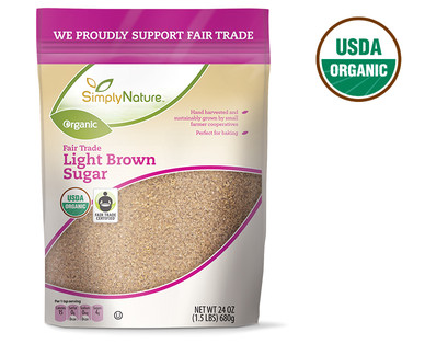 SimplyNature Organic Light Brown Sugar