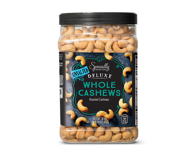 Specially Selected Unsalted Deluxe Whole Cashews