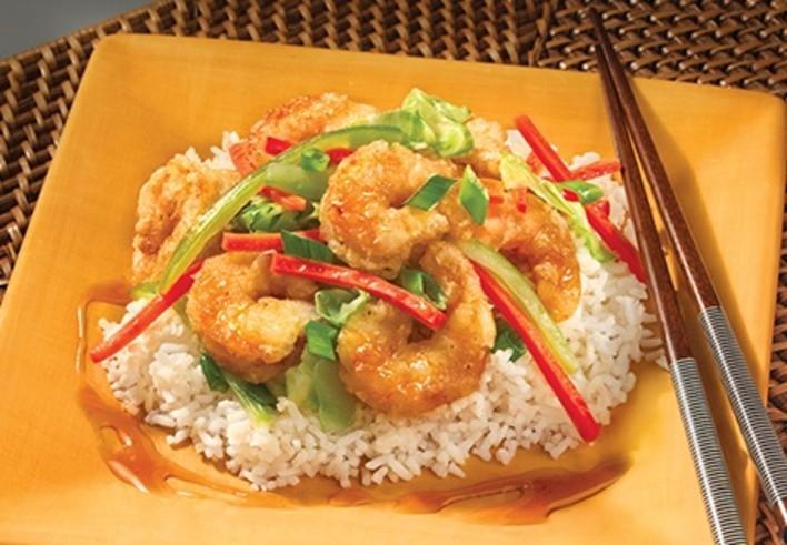 Honey Shrimp and Vegetables