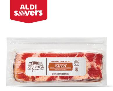 ALDI Savers Appleton Farms Maple Flavored Thick-Sliced Bacon