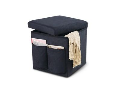 SOHL Furniture Foldable Storage Ottoman View 1