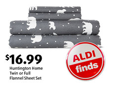 ALDI Find: Huntington Home Twin or Full Flannel Sheet Set. $16.99. View details.