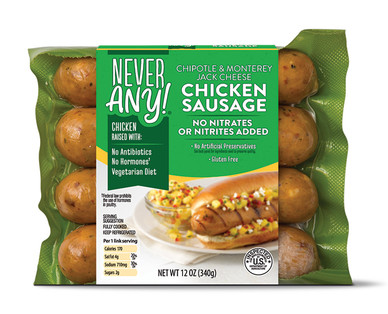 Never Any! Chipotle Chicken Sausage