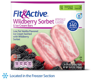 Fit and Active Wildberry Sorbet Ice Cream Bars