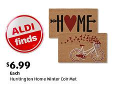 ALDI Find: Huntington Home Winter Coir Mat. View details.