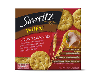 Savoritz Wheat Round Crackers