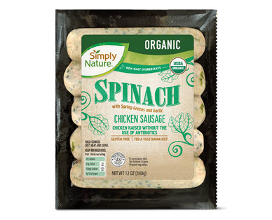 Simply Nature Organic Spinach Chicken Sausage