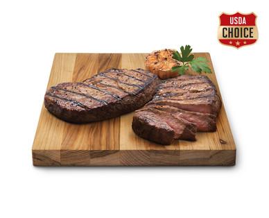 Fresh USDA Choice Twin Pack Strip Steaks