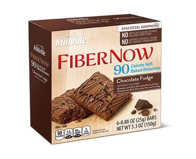 Millville Fiber Now 90 Calorie Fudge Brownie Bars