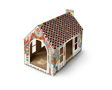 Heart to Tail Holiday Cat Scratching Playhouse or Activity Box View 3