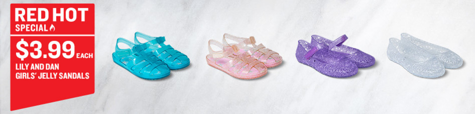 Lily & Dan Girls' Jelly Sandals