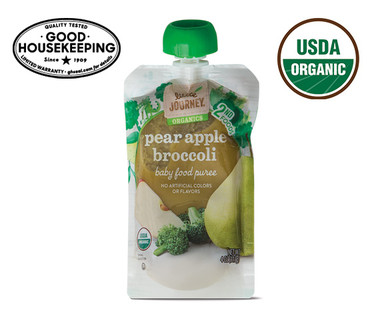 Little Journey Apple Broccoli Pear Baby Food Puree