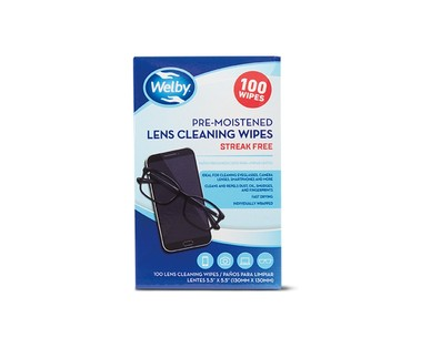 Welby Pre-Moistened Lens Cleaning Wipes View 1