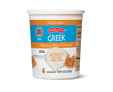 Friendly Farms Whole Milk Vanilla or Honey Greek Yogurt View 2