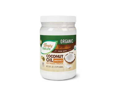 Simply Nature Large Organic Coconut Oil View 1