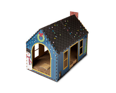 Heart to Tail Holiday Cat Scratching Playhouse or Activity Box View 2